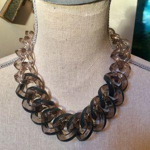 J. CREW Gray Lucite Necklace